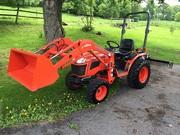 2012 Kubota B2620HSD Tractor Loader York Rake