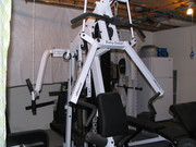 gym equipt. body solid, multi station gym weight plates bars racks  ex