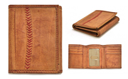 Baseball Wallets Are Made From Official Rawlings MLB Leather