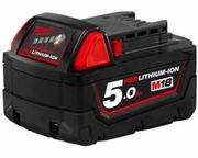 18V Milwaukee 48-11-1850 5.0AH Battery M18B5 XC 5.0 Red Lithium