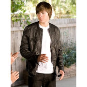 17 AGAIN ZAC EFRON BLACK LEATHER JACKET