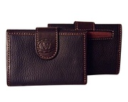 Argentinian Pebbled Leather Tri Fold Wallet For $65