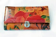 Floral Leather Organizer Wallet - Hand Crafted in Argentina For $105