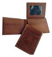 Men's Capybara Billfold Wallet with ID Window & Credit Card Storage