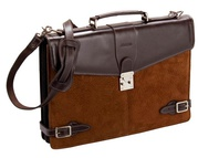 Capybara / Carpincho Leather Briefcase For $125