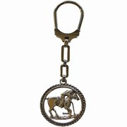Alpaca silver Polo Player Keyring Key Chain For $35