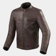 Brown Leather Bomber Motorcycle Jacket