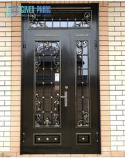 Good Price For Beautiful Wrought Iron Enty Doors