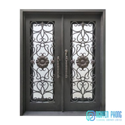 Manufacturer Of Beautiful Wrought Iron Entry Doors Laser Cut Doors