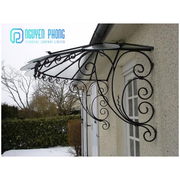 Vintage And Modern Wrought Iron Canopy Awning,  Laser Cut Pergola Canop