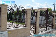 For Sale Wrought Iron Garden Fencing For Decoration And Protection