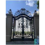 Luxury wrought iron gates with manual and motorized functions