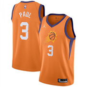 Mens Phoenix Suns #3 Chris Paul Orange Jordan Statement Edition Jersey