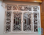 Affordable Wrought Iron Window Grill,  Window Frame