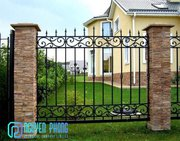 Vintage Wrought Iron Fencing Panels For House,  Villa