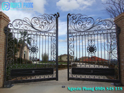 Luxury wrought iron gates with dual functions