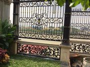 Wrought Iron Fencing Panels For Decoration and Protection