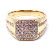 SHY Creation Men's Gemstone Diamond Ring